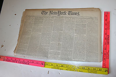 NEW YORK TIMES Saturday April 11th 1885 Massacred by Indians Fort Pitt