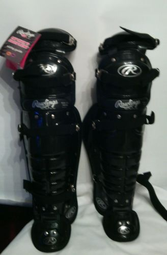 Rawlings 16DCW Ages 12+ Catcher's Leg Guards NWT Softball