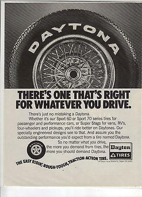 Original 1978 Daytona Tire Magazine Ad