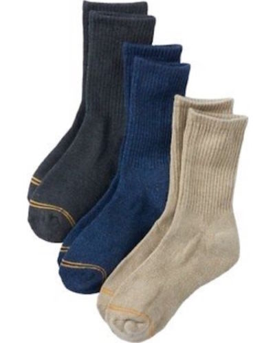 Gold Toe Boys Casual Crew Socks 3pk NWT