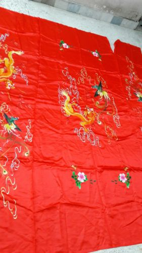 ANTIQUE CHINESE SILK TAPESTRY CEREMONIAL dragon EMBROIDERY TEXTILE --