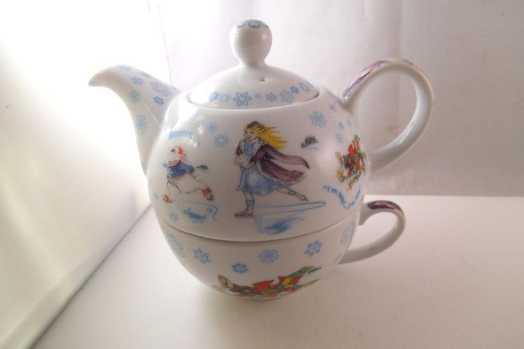 Alice in Wonderland Paul Cardew Winterland Tea for One Teapot