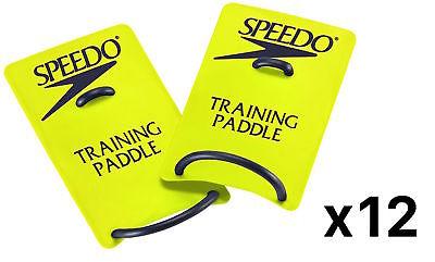 Speedo Swim Training Paddles Workout Exercise Fitness Pool Aid, Large (12-Pack)