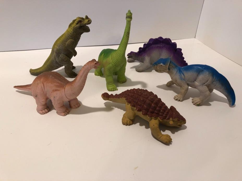 Vintage Playskool 1988 Dinosaurs Action Figure Toy Lot of 6