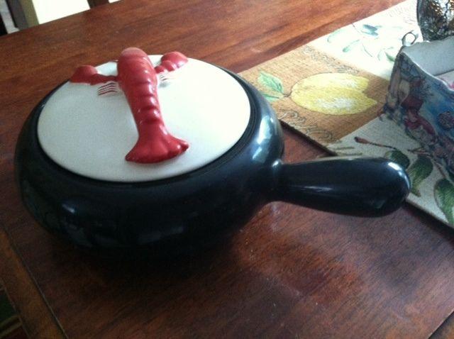 Vintage Kenwood Ceramic Casserole Soup Serving Dish With Lid Red Lobster