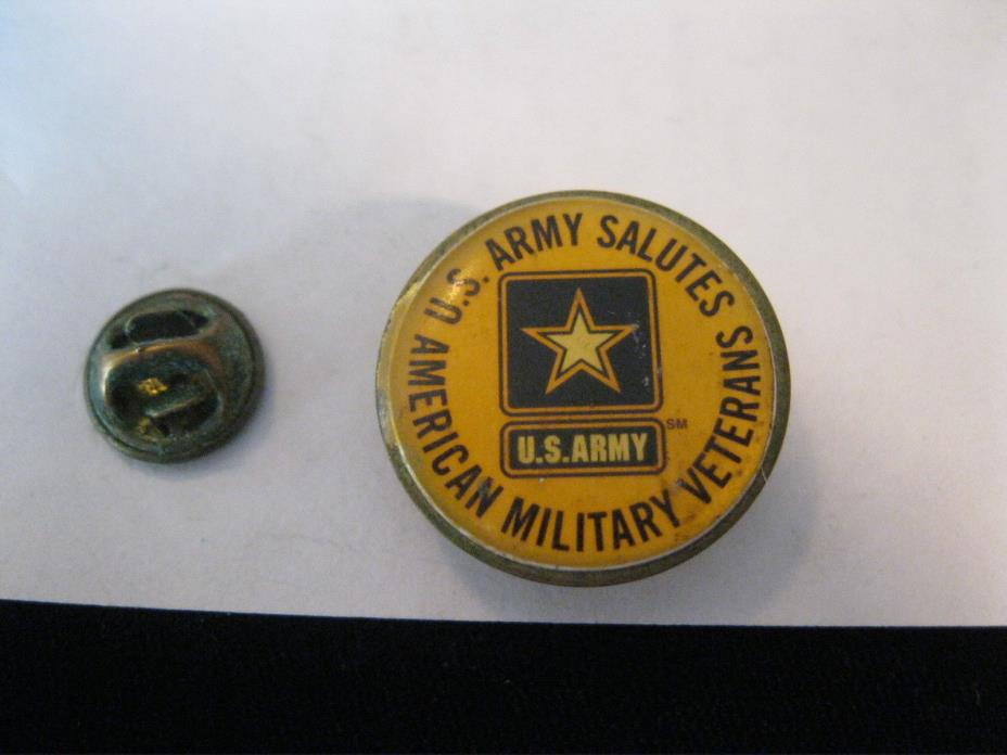 HAT PIN U.S. ARMY SALUTES AMERICAN MILITARY VETERANS