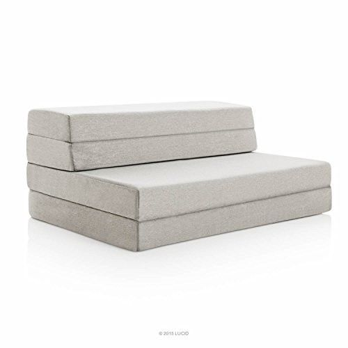 Folding Memory Foam Mattress Queen Size 4 Inch Furniture Bed Couch Futon Lounge