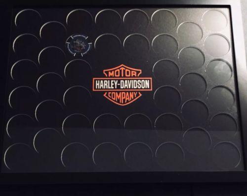 Harley-Davidson Poker Chip Collectors Display Frame (Holds42), 13.5 x 10.5 inch