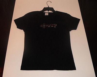 Women's large Ozzy Osborne beaded front Tour T-shirt Tee Short Sleeve