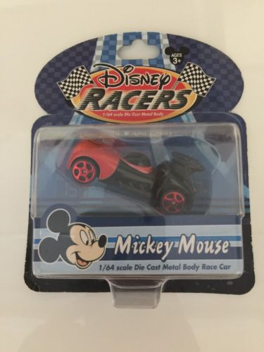 Disney Racers Mickey Mouse 1/64 Scale Die Cast Metal Body Race Car