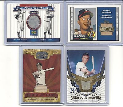 EDDIE MATHEWS. LOT OF
