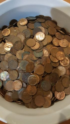 1 lb of UNSEARCHED wheat pennies! One pound per lot!!