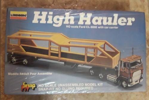 LINDBERG HIGH HAULER HO FORD TRANSPORT CAR CL 9000 TRACTOR TRUCK MODEL KIT