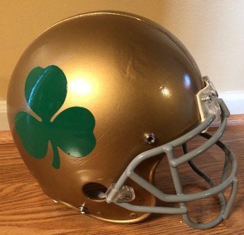 Notre Dame Football Game Used Helmet/2011 Utl Sample Helmet