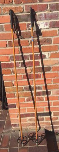Vintage EIDE Staven Vintage Bamboo Ski Poles 144 CM Tall Poles