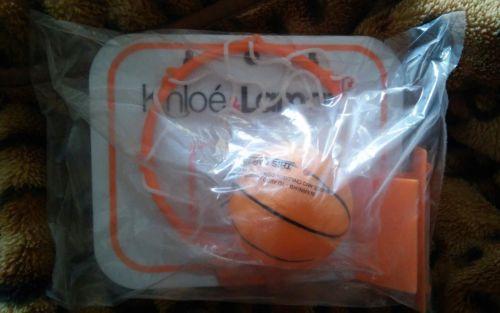 Khloe Kardashian & Lamar Odom mini basketball hoop set RARE NEW