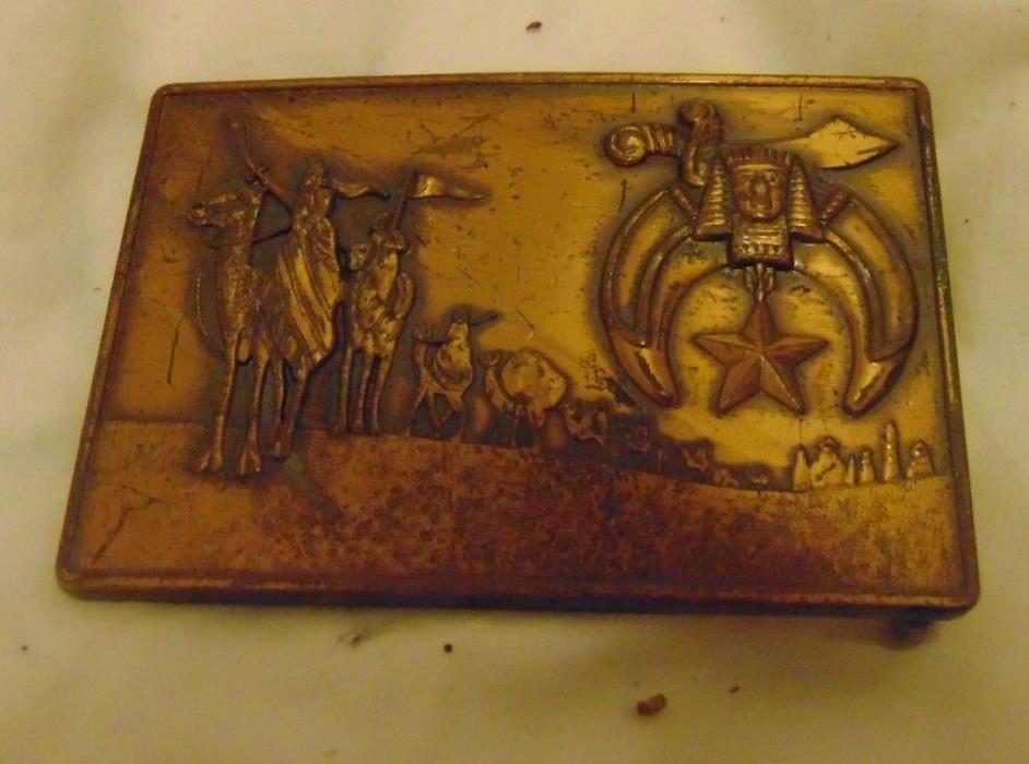 Men's Vintage Masonic Lodge Freemason Fraternal Organization Symbol Belt Buckle
