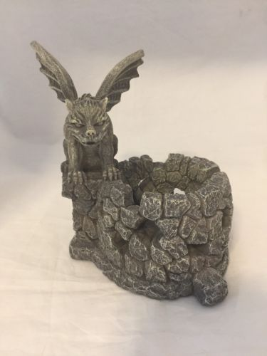 Design Toscano European Styled Sculpture Gargoyle Candle Holder Hand Crafted