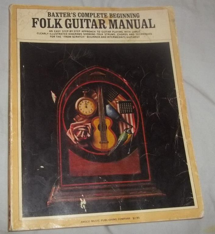 SC MUSIC BOOK BAXTER'S COMPLETE BEGINNING FOLK GUITAR MANUAL STEP-BY-STEP CHORDS