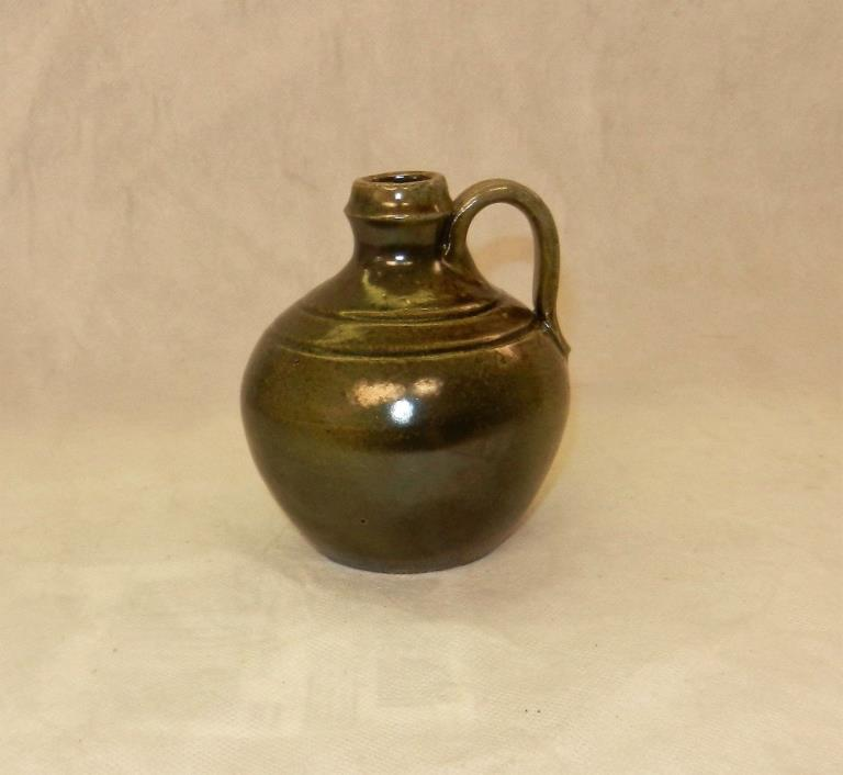 Jugtown, N. C. Art Pottery, Moravian Style, Albany Salt Glaze, Miniature Jug 5