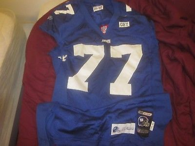 2001 NFL Football New York Giants Game Used Jersey #77 Luke Petitgout