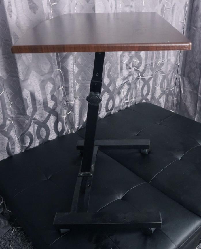 Tatkraft Salute Adjustable Rolling Laptop/Computer Desk-Cart