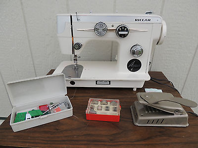 Riccar Ayres Sewing Machine Model 666 w/Pedal And Extras