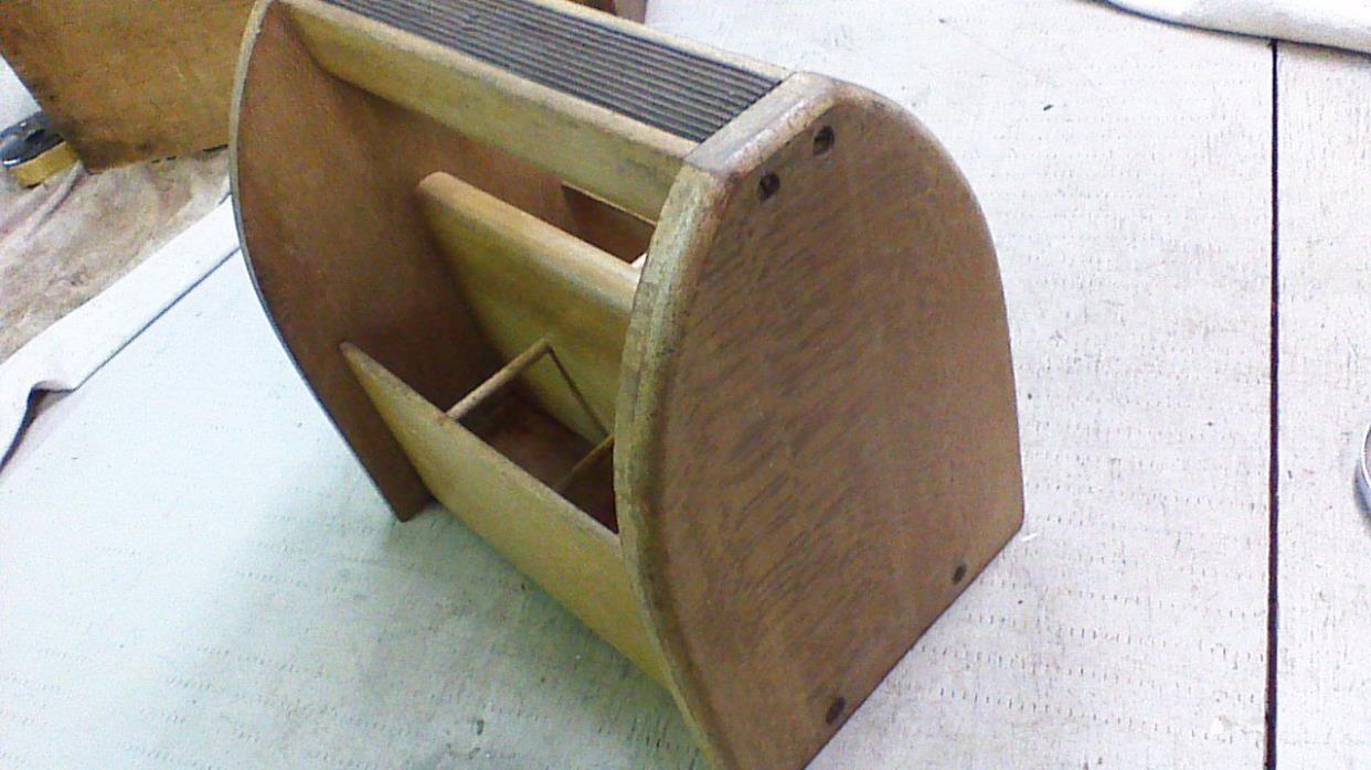 Vintage Shoe Shine Kit Box Wooden