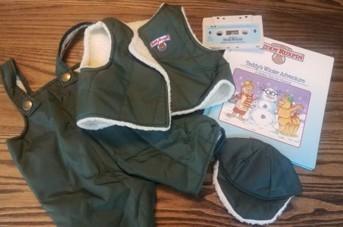 Teddy Ruxpin Winter Adventure Clothes Book and Tape