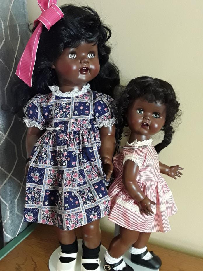 AFRO AMERICAN LITTLE SISTER SAUCY WALKER DOLL  16in -  RESTORED - SO CUTE !