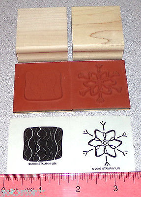 Stampin Up Little Layers II Stamp Singles Christmas Snowflake with Background