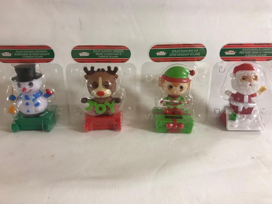 Christmas Themed Solar Dancers - 4 Pack (Package J21)