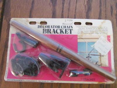 Vintage Metal Wood Swivel Hook Lantern Hanger Railroad  Birdcage Plant Lamp NOS