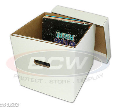 5 BCW High quality 33 1/3 RPM Storage Box Holds up to 65 Records or Laser Discs