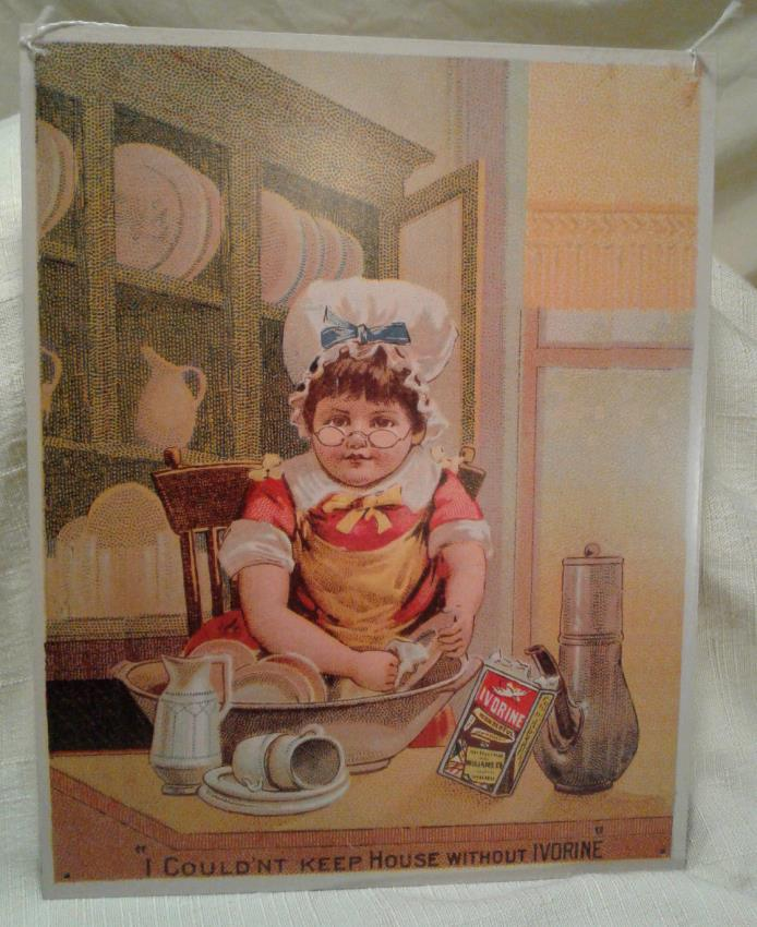 Ivorine Laundry Soap Detergent Tin Advertising Sign Antique VTG Reproduction
