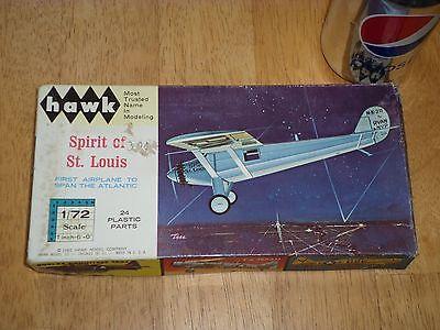 SPIRIT OF ST. LOUIS AIRPLANE, Plastic Model Kit, Scale 1:72, Vintage