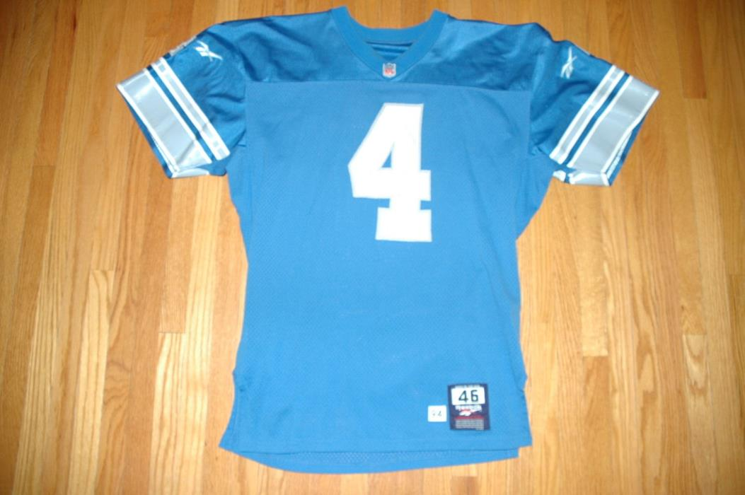 NFL Detroit Lions Jason Hanson game worn used vintage jersey
