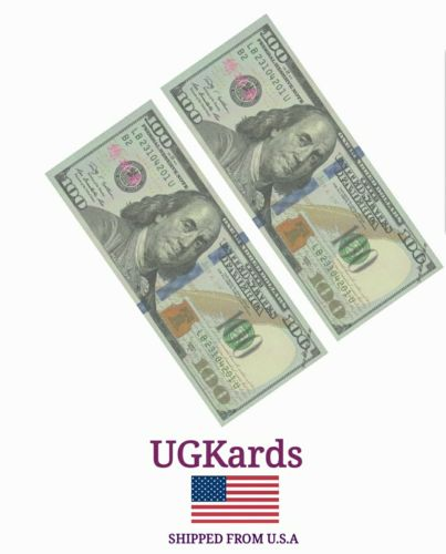 2 Realistic Training Paper Money $100 Dollar Bill  SHIPPED FROM USA