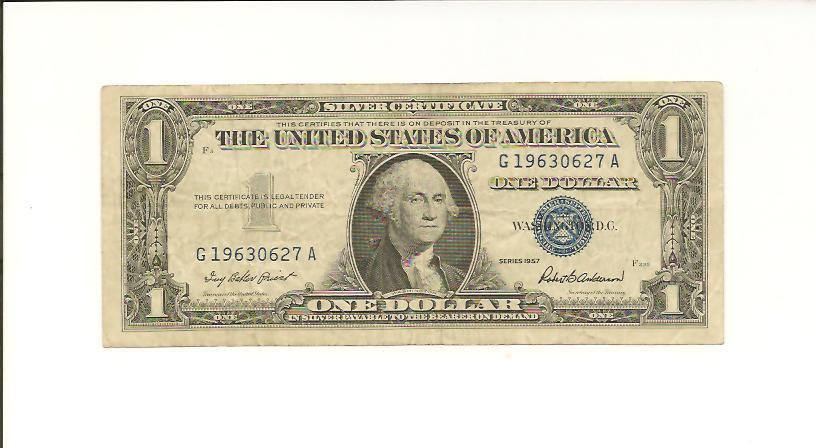 JUNE 27, 1963 .... BIRTHDAY NOTE .... 1957 $1  G 1963 0627 A .... 1963-06-27