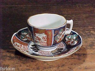 C.1890 Lovely IMARI Handpainted DEMITASSE CUP & SAUCER