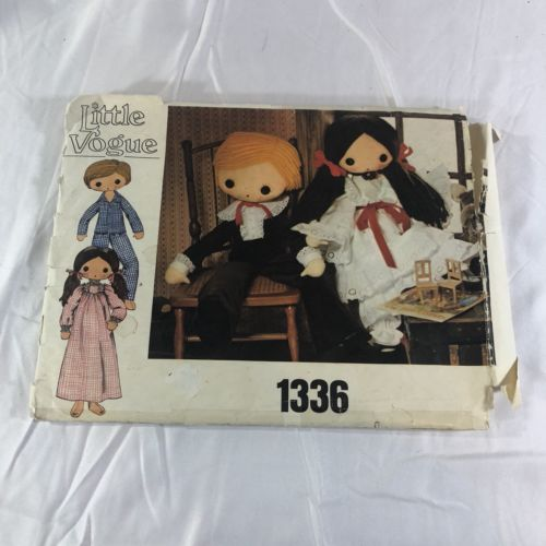 Little Vogue 1336 Boy & Girl Doll & Clothes Pattern Uncut                      E