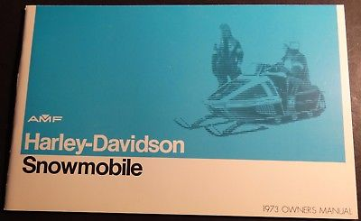 1973 HARLEY DAVIDSON SNOWMOBILE OWNER MANUAL NEW & NICE  (512)