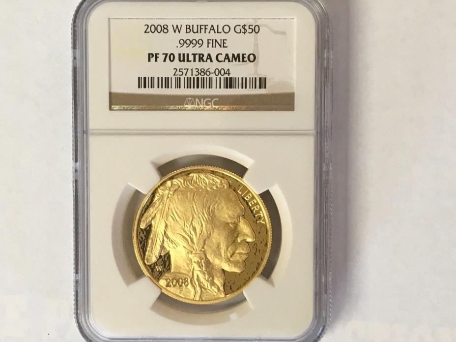 2008 1oz  $50 Gold Buffalo PF70 Ultra Cameo