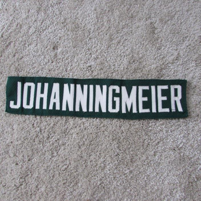 1972 Bill Johanningmeier Green Bay Packers game used worn jersey nameplate NFL