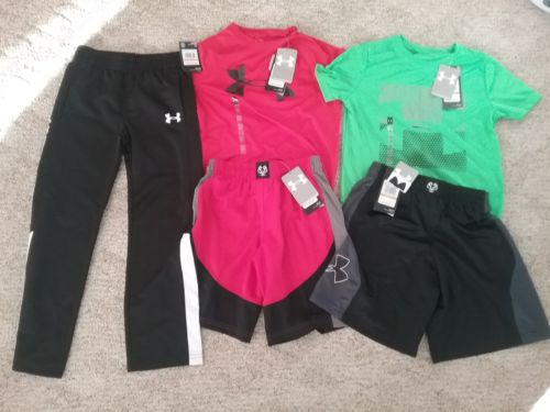 Under Armour Boys Sz Small Clothing Lot New with tags
