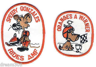 Harley Davidson AMF Snowmobile Sled Harley Vintage 70' s patches Skidoo