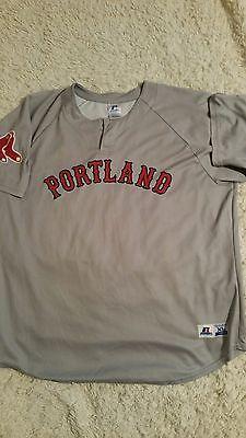 boston red sox devin marrero game used portland sea dogs jersey
