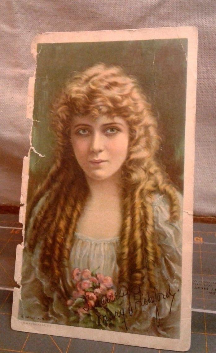 Film Star Advertising Trade Card PRIDE OF THE CLAN MARY PICKFORD, Ira Hill 1917