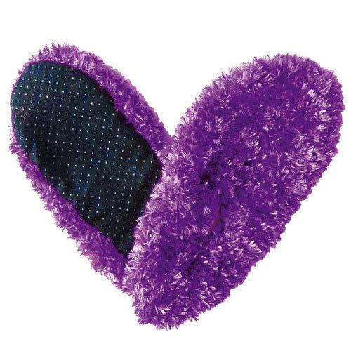 Very Purple Fuzzy Footies Foot Coverings Slippers Non-slip