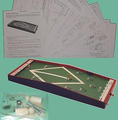 WOODWORKING PLANS + HARDWARE KIT- Pin-ball BASEBALL GAME D.I.Y. plans + Hardware